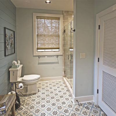 Master bath includes large glassed in shower and spacious closet